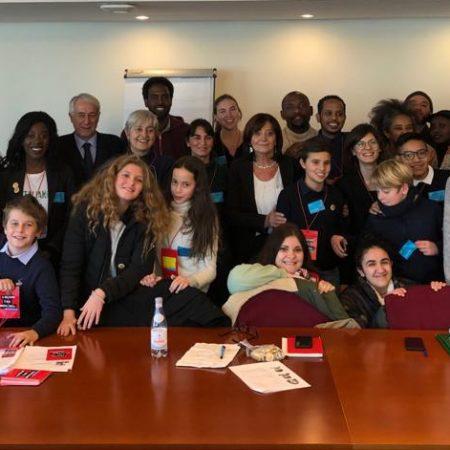 La delegazione con alcuni Europarlamentari Italiani